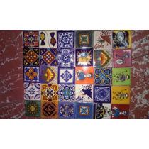 Tapete De Azulejo Tipo Talavera De 90pzs