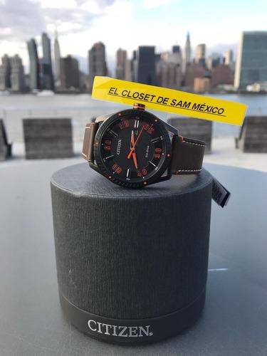 925e9946d791 Reloj Citizen Eco-drive Piel Café Caballero E111 Analogo