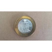 Moneda Bimetalica De 100 Pesos Nuevo Leon Condicion Bu 1era+