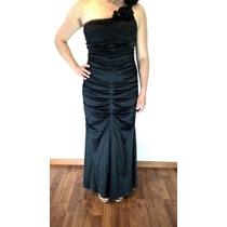 Vestido De Gala Negro / Noche / Largo Excelente Precio