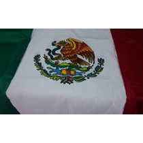 Bandera Mexico Pintada Doble Vista 90x1.58 Mt Razo Reglament