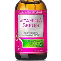 Serum Vitamina C Para La Cara Con Ácido Hialurónico, 20% C +