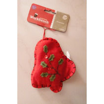 Adorno Navidad Red Bell Santa