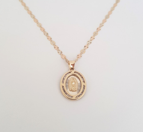 19d94e5a6dd Cadena Medalla Virgen Bautizo, P.comunión ,xv Oro 14k Sólido en venta en  Puerta De Hierro Zapopan Jalisco por sólo $ 3391,00 - CompraMais.net Mexico