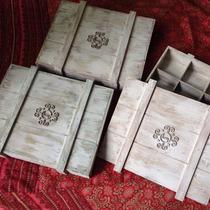 Caja Decorativa Vintage Multiusos De Madera Personalizadas