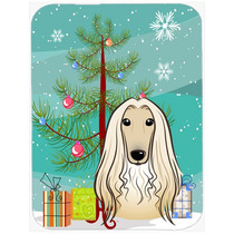 Árbol De Navidad Y Del Afgano De Cristal Tabla De Cortar Gr