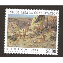 Estampilla Unidos Conservacion Borrego Cimarron 2002