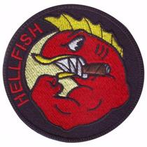 Hellfish Peces Del Infierno Parche Bordado Militar Gotcha