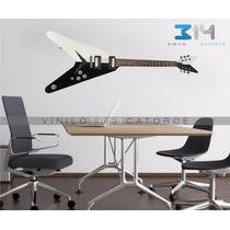 Vinilo Decorativo Musical Guitarra Eléctrica 02. Calcomania
