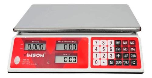 Báscula Comercial Digital Vinson Vins-40 40kg
