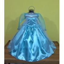 Precioso Vestido Disfraz Princesa Elsa Y Ana De Frozen