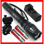 Lampara Tactica 2900 Lumens Cree Led Xlm-t6 Recargable Zoom