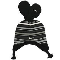 Gorra Nike Niños Tamaño 2t-4t Negro Rayado Peruana Sombrero