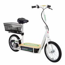 Moto Scooter Electrico Ecologico Razor Con Asiento Y Canasta