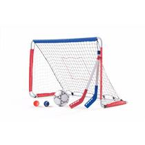 Porteria Para Ninos Incluye Un Balon Y Dos Palos De Hockey
