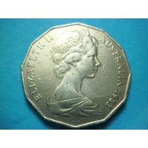 Australia Moneda 50 Centavos Fecha 1983