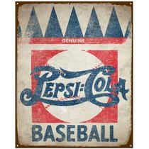 Anuncio Poster De Lamina Metalico Vintage Pepsi Baseball