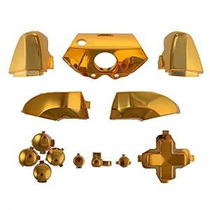 Cromo Oro Abxy Dpad Dispara Botones Conjunto Completo Kits C