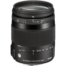 Sigma Lente 18-200mm F/3.5-6.3 Dc Macro Os Hsm Para Nikon