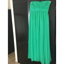 Vestido Largo Verde Strapless, Marca Rimini Couture Talla 10