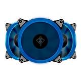 Kit De 3 Ventiladores Gamer Yeyian Led Azul  Typhoon, 120mm