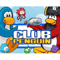 Kit Imprimible Club Penguin Diseñá Tarjetas, Cumples 2x1