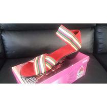 Plataforma Sandalia Para Dama San Miguel Shoes Rojo *:*