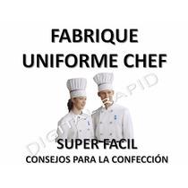 Kit Patrones Moldes Formatos Uniformes Imprimibles Chef