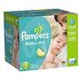 Pampers Baby Dry Pañales Economía Paquete Más El Tamaño De 1