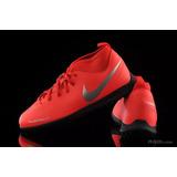 a78271b4f0c45 Botas Niño Nike Phantom Club Turf Rápido Rojo Artificial