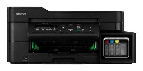 Impresora A Color Multifunción Brother Dcp-t7 Series Dcp-t710w Con Wifi 110v Negra