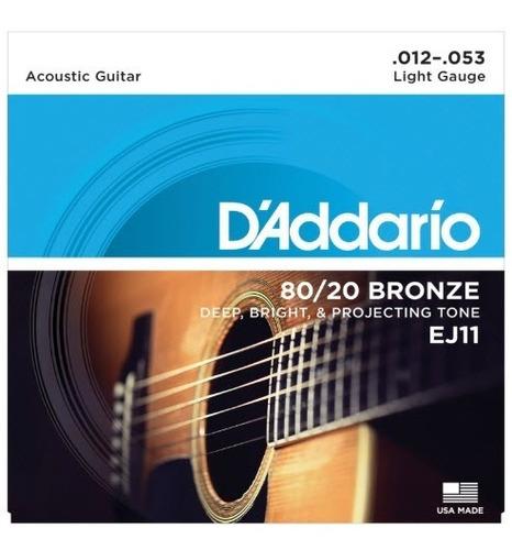 Daddario Ej11 Cuerdas Guitarra Acústica Bronze (12-53) Light