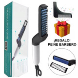 Plancha Para Barba Y Cabello Para Hombre + Regalo Peine Delineador · Cepillo Eléctrico Alaciador Alisador Bigote