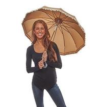 Sombrilla Sprinkles Y Sepia Lunares Parasol Umbrella Crema