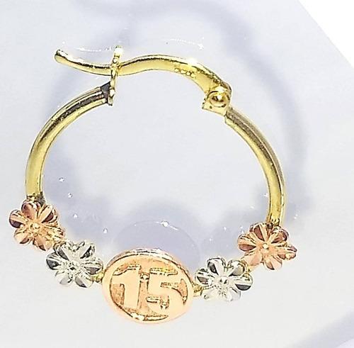 77f307599f50 Aretes Para Dama Tipo Arracadas Oro Florentino 10k 15 Años