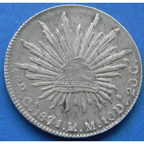 8 Reales Chihuahua 1971/0 Escasa Plata Original Excelente