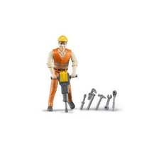 Bruder Trabajador De Construcción Con Los Accesorios