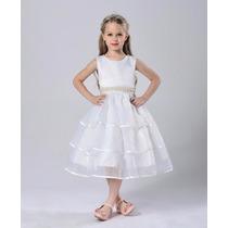 Vestido De Niña Fiesta - Presentación - Pajecita