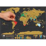 Mapa Mundial Rascable Scratch Map Viajero 60 X 82 Cm Deluxe