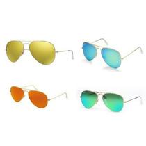 Gafas Ray-ban 3025 Flash Gold,blue,green, Pink