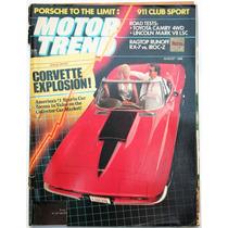 Motor Trend Agosto 1988 Revista De Autos Corvette Colec2