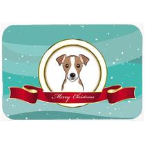 Jack Russell Terrier Feliz Navidad De Vidrio Tabla De Cortar