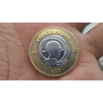 100 Años Del Ejercito Mexicano. Moneda De 20 Pesos