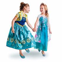 Frozen Fever Set 2 Vestidos/disfraz Anna Y Elsa Disney Store