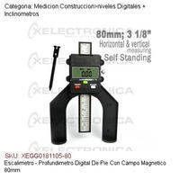 Escalimetro-profundimetro Digital C/campo Magnetico 80mm