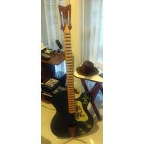 Porta Cd Perchero De Madera Guitarra Bono U2
