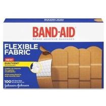 Curita Johnson & Johnson Band-aid De Tela Flexible Cajas 100
