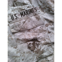 Camisola Militar Original Us Marines Desert Digital Bordado