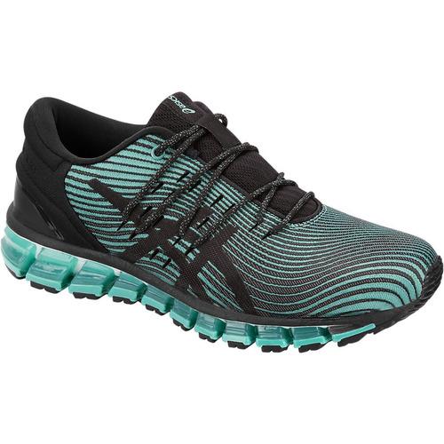 f4b01117fa3 Tenis Asics Gel Quantum 360 4 Negro Verde Correr Running