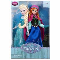 Muñecas Frozen Estuche Anna Y Elsa Disney Store Nuevas